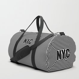 New York echo / Lined frame expanding from NYC text Duffle Bag