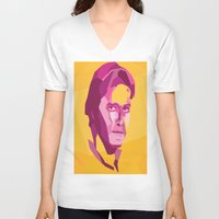 han solo V-neck T-shirts featuring Han Solo by Jude Beavis