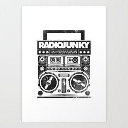 RADIO JUNKY BOOMBOX Art Print