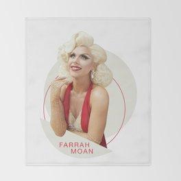 Farrah Moan - Red Throw Blanket