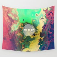 freedom Wall Tapestries featuring FREEDOM by sametsevincer