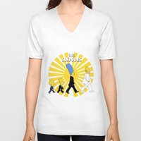 simpson V-neck T-shirts featuring Simpson Sun by sgrunfo