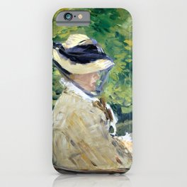 Édouard Manet Madame Manet at Bellevue iPhone Case