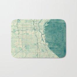 Milwaukee Map Blue Vintage Bath Mat