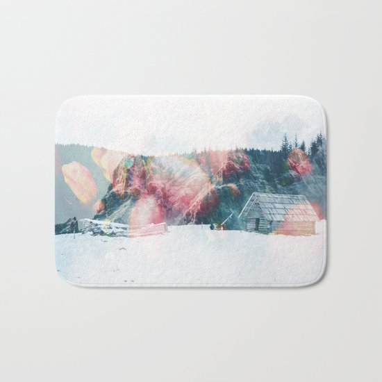 Winter Paint Bath Mat