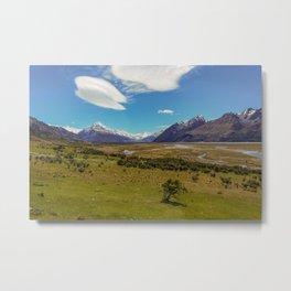 Aoraki, The Top of New Zealand Metal Print