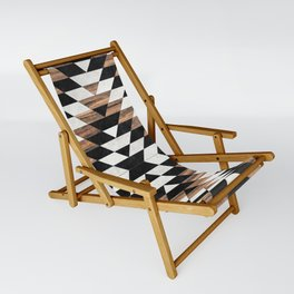 Urban Tribal Pattern No.13 - Aztec - Concrete and Wood Sling Chair
