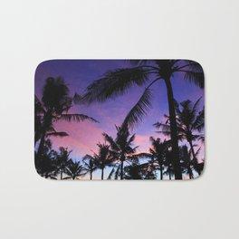 The Perfect Palm Sunset in Bali Bath Mat