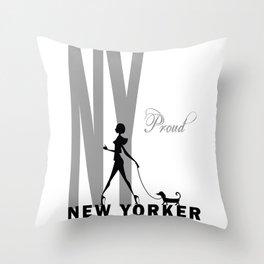 Proud New Yorker Throw Pillow