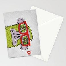 005_monkey glasses Stationery Cards