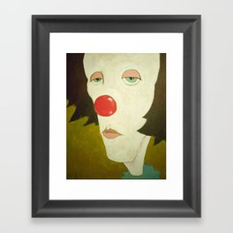 Johnny The Clown Framed Art Print