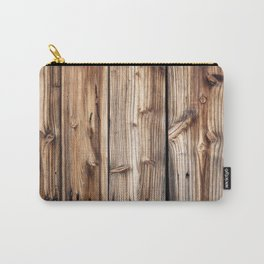 Wood pattern Carry-All Pouch