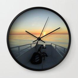 Little Cayman Sunset Wall Clock
