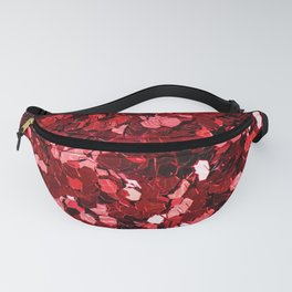 Red Party Confetti Fanny Pack