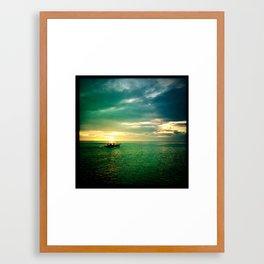 Balayan Bay Sunset Framed Art Print