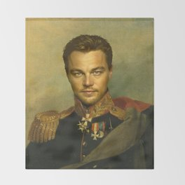 Leonardo Dicaprio - replaceface Throw Blanket