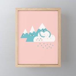 Mountain Hugs Framed Mini Art Print