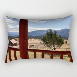 Autumn Day at the Ranch  Rectangular Pillow