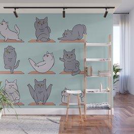 British Shorthair Cat  Yoga Wall Mural