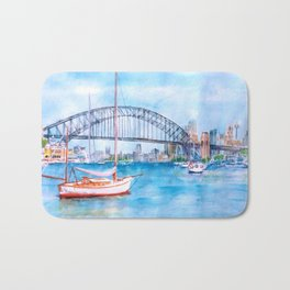 Beautiful Sydney Harbour Bath Mat