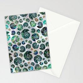 Sea shells pattern Abalone Stationery Cards