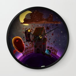 Pizza Time (Leaving The World) II Wall Clock