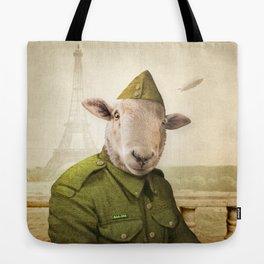 Private Leonard Lamb visits Paris Tote Bag
