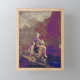 Scarlet Summer. Framed Mini Art Print