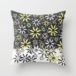 Etched Daisy Throw Pillow