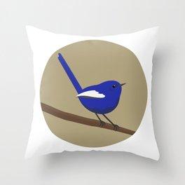 White-winged Fairy-wren Throw Pillow