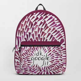 I don't know, google it - Burgundy Backpack