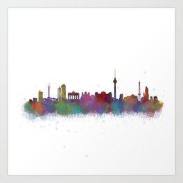 Berlin City Skyline HQ4 Art Print
