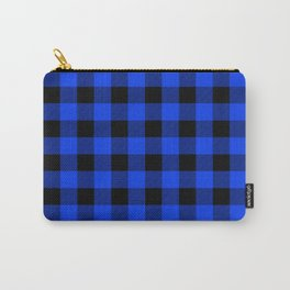 Blue Buffalo Plaid Pattern Carry-All Pouch