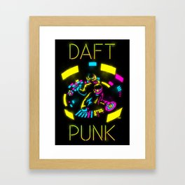 Daft Punk CMYK Framed Art Print