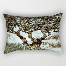 Brown Tree at Peace Rectangular Pillow