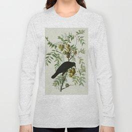 Vintage Crow Illustration Long Sleeve T-shirt