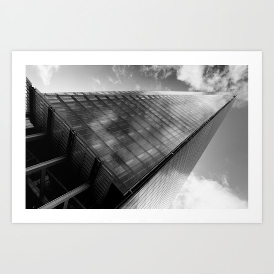 The Leaning Shard Of London  Art Print