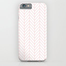 Pale Pink Herringbone iPhone Case