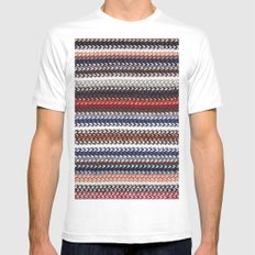 Texture laine White Mens Fitted Tee MEDIUM