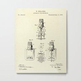 Automatic Fire sprinkler-1888 Metal Print