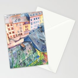 Luxembourg roofs Stationery Cards