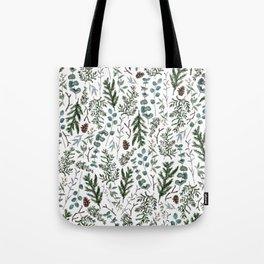 Pine and Eucalyptus Greenery Tote Bag