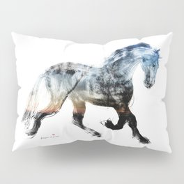 Horse (Summer Friesian) Pillow Sham