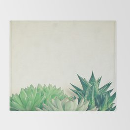 Succulent Forest Throw Blanket
