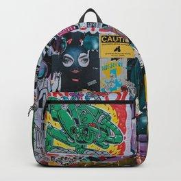 Sticker and graffiti wall background 3 - Berlin street art photography Backpack