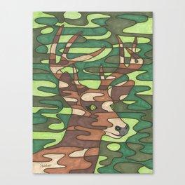 Camo Deer Canvas Print