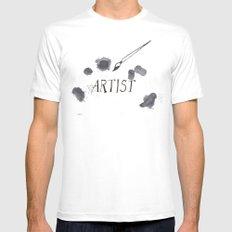 Artist paint splotch White MEDIUM Mens Fitted Tee