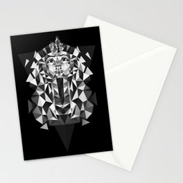 Black and White Tutankhamun - Pharaoh's Mask Stationery Cards