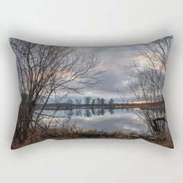 Lake by the late autumn Rectangular Pillow