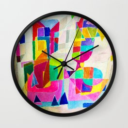Two Others Comunicating. Wall Clock